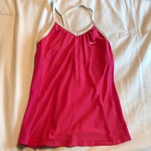 Hot pink Nike tank, good condition
